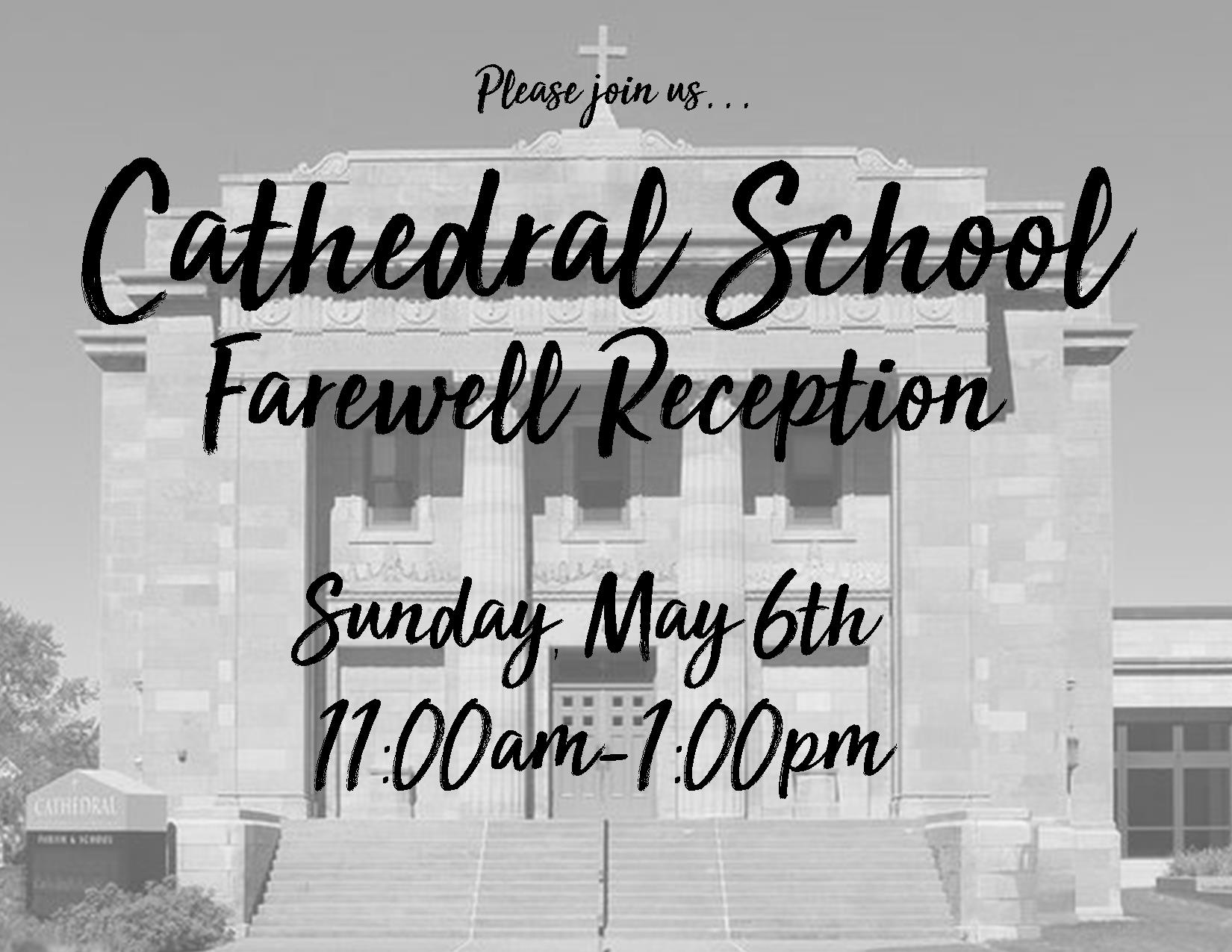 Cathedral School Farewell Reception